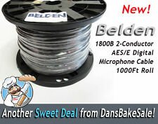 Belden 1800B 2-Conductor AES/EBU 24 AWG Digital Microphone Cable 1000 Ft Roll