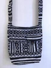 Hippie Bohemian India Festival Gheri Baja Woven Peddler Hobo Bag Pockets