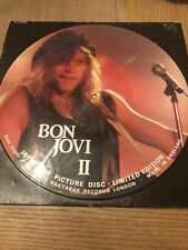 "BON JOVI - INTERVIEW PICTURE DISC LIMITED EDITION 12"" Vinyl Record NM G+"