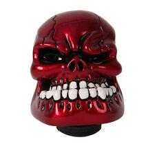 5/6 Speed Red Skull Head Resin Manual Car Gear Knob Shift Shifter Lever Adapters