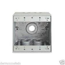 T&B Steel City Ltd14-22 Weatherproof Device Box 2 Gang Die Cast Aluminum b147