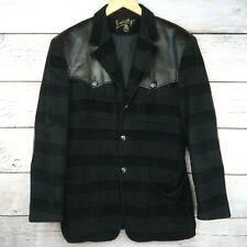 Vintage JC de Castelbajac Leather and Corduroy Men's Jacket // Black, Eur 48