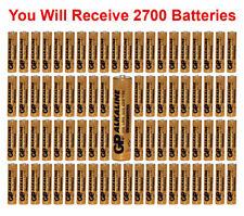 2700-Pack GP Size AAA Batteries Alkaline 1.5V LR03 BULK Wholesale Lot 2021