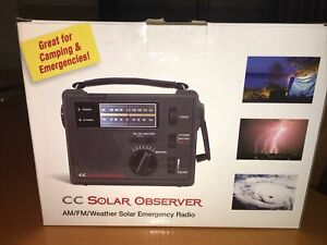 OPEN BOX- CC Solar Observer AM-FM-WX Emergency Hand-Crank & Solar Power Radio