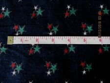 "# 3560 Navy Blue Small Ribbed Corduroy With Stars 1 Yd & 31"" X 42"" 100% Cotton"