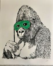 Banksy - screen print - Gorilla Glitter - UNRELEASED!!! Gross Domestic Product
