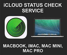 iCloud Status Check Service For Macbook, iMac, Mac Pro, Mac Mini, On or Off