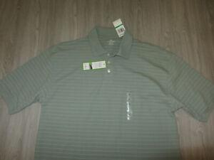 NWT NEW Dockers Golf Green Short Sleeve Dress Lounge Shirt L Olive Green Tags Lg