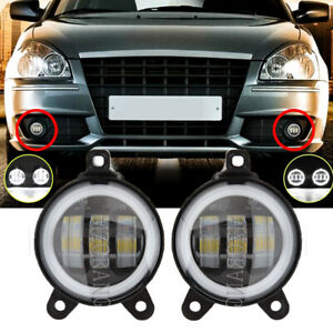2PCS 3.5Inch Front LED Fog Light Lamps Halo Ring For Lada Priora Russia Assembly
