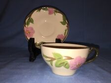 Franciscan Desert Rose OVERSIZED Coffee Cup with Saucer-MINT!