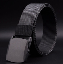 Black Men's Outdoor Military Tactical Nylon Waistband Canvas Web Belt Dazzling