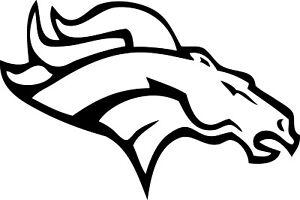 """Denver Broncos NFL Decal """"Sticker"""" for Car or Truck or Laptop"""