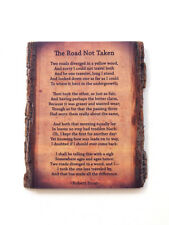 The Road Not Taken on Live Edge Wood - Wood Wall Art with Robert Frost Poem