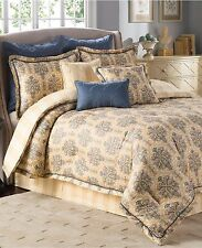 "Savannah Home Laurelwood Cotton 18"" Square Decorative Pillow IVORY Bedding H1135"
