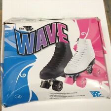 Wave Girls Roller Skates White And Pink Wheels By Wave Size 3
