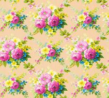 Vlies Tapete Blumen Bouquet beige bunt pink gelb Floral glanz 34508-1 Chateau 5