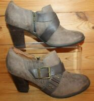 Clarks Brown Nubuck Heeled Ankle Boots/Shoes - UK 6D