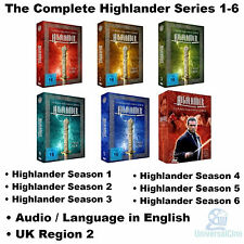 The Complete Highlander Series 1-6 DVD Collection Season 1 2 3 4 5 6 Adrian Paul