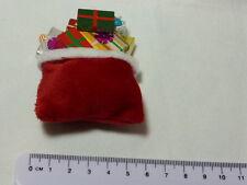 SCALA 1:12 grandi Sacco Babbo Natale e presenta in miniatura casa delle bambole