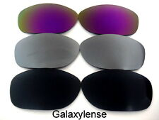 Galaxy Replacement Lenses For Oakley Pit Bull Black&Gray&Purple Polarized 3Pairs