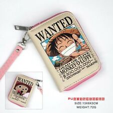 HOt Anime ONE PIECE Monkey D Luffy Cosplay PU Leather Purse Wallet