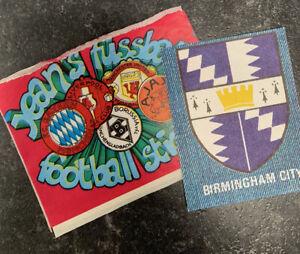 *rare* Fussball Football Jeans Stickers - 1975. Birmingham City & Empty Packet