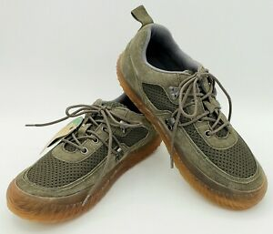 Hybrid Green Label Curious Gray Green Suede Sneakers NWT Mens Size 8 Eco Friendl