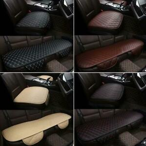 Car Seat Cover Cushion PU Leather Front Rear Pad Mat With Storage Bags Universal