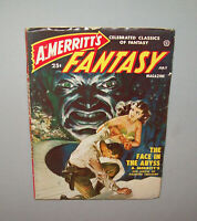 Old Antique Vtg 1950s Pulp Mag A. Merritt's Fantasy Magazine - July 1950 V 1 # 4