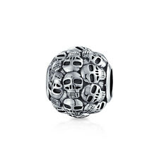 Bling Jewelry Catacombs Skull Wall Charm Bead 925 Sterling Silver