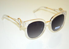 Gafas de sol mujer plata oro cristales lentes óculos de sol sunglasses BB2