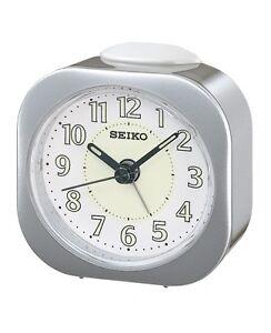 Authentic [Seiko] QHE121 Luminous Bedside Beep Alarm Sweep quiet Seconds Clock