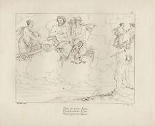 1805 Raffaello incisione in acciaio Venere va a trovare Giove