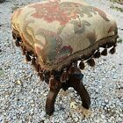 Antique Wooden Cast Iron Adjustable Piano Organ Stool Seat Victorian Eastlake