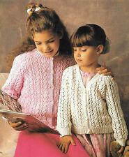 "Vintage Girls Knitting Pattern, DK, Cardigan Lacy, 24-32"", Hayfield 00681"