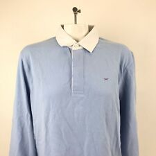 Eden Park Polo Rugby Long Sleeve Blue Bow Collared Formal Casual Women's