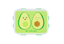 Sass & Belle Happy Avocado Lunch Box Plastic Snack Sandwich Food Container