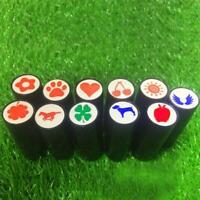 pc Plastic Quick-dry Golf Ball Stamp Stamper Marker V3S6 Seal Impression F5J0