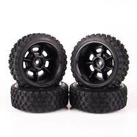 4 x pneu rallye pneus & roue jante 11083 pour HSP HPI 01:10 modèle RC voiture