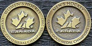 "2002 Salk Lake""Olympic Gold ""Womans #1804, Mens #5255 Tokens (37mm 20 Grams Ea.)"