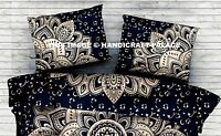 "Gold Ombre Pillow Sham Mandala Pillow Case Throw Indian Cotton Cushion Cover 28"""