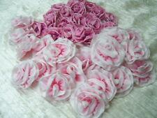 Ombre Ribbon Flowers Millinery Ribbon Work Pinks Newborn Dolls Lot of 40 flowers