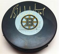 Brian McGrattan Boston Bruins signed hockey puck Nashville Predators