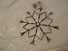 6.5 In Black Metal Snowflake Ornament Christmas Holiday Decorations