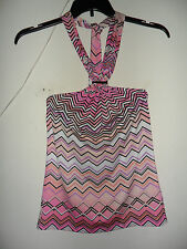 Jennifer Lopez  Zigzag Halter Top Pink Size: X-Small Very Cute New with tag