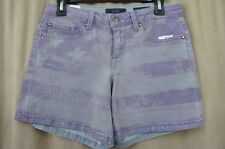 Jessica Simpson Jeanswear Shorts Sz 28 Purple Dyed American Flag Low Rise