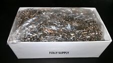"""Lot of 1,440 Safety Pins #2 Closed Safe Head 1.5"""" Heavy Duty 10 Gross Free Ship"""