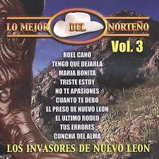 New: Invasores De Nuevo Leon: Mejor Del Norteno 3  Audio CD