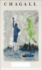 Last ones! Rare Fab Hard To Find Marc Chagall Statue Of Liberty Exibition Print