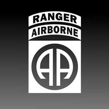 82nd Airborne Ranger Army Decal Military Badge Sticker Solid